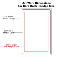 bridge size card back template