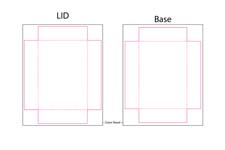 poker size two part box template