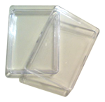 hard clear plastic gift cases